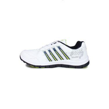 Columbus White & Navy & Green Sports Shoe C21