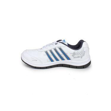 Columbus White & Grey & Blue Sports Shoe C19
