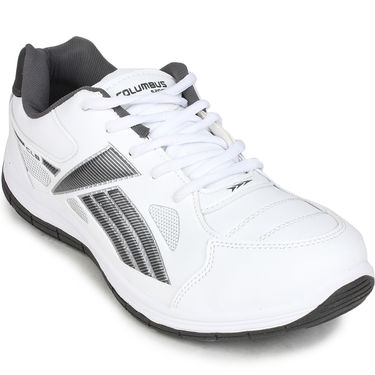 Columbus White & Grey Sports Shoe C26