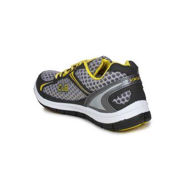 Columbus Grey & Yellow Sports Shoe C18