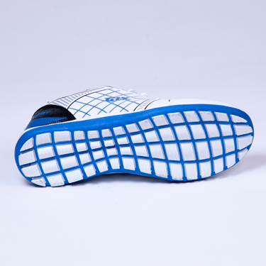 Columbus PU Sports Shoes - White & Blue-1936
