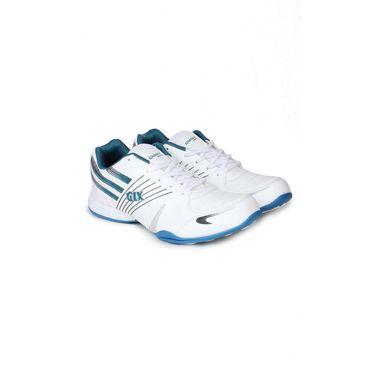 Columbus White & Green Sports Shoe C69