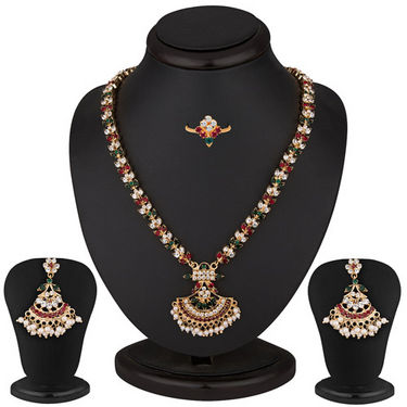 Sukkhi Attractive Gold Plated AD Necklace Set