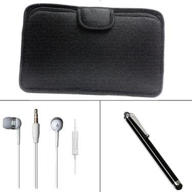 Combo Of Vizio Soft Case + Stylus pen + Earphone.