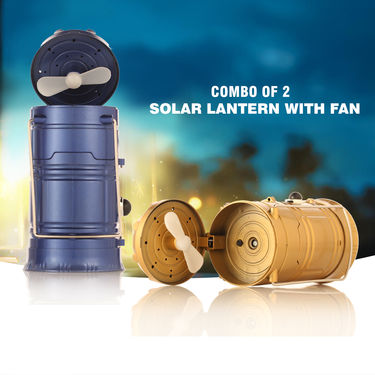 Combo of 2 Solar Lantern with FAN