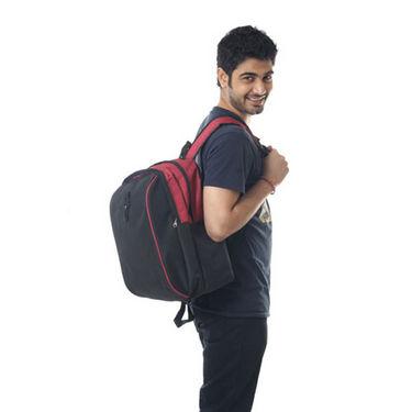Combo of Fidato Backpack - Black + Belt + Wayfarer Sunglass-3532
