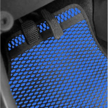 AutoStark Odourless Car Floor/Foot Mats 5 Pcs Set BLUE