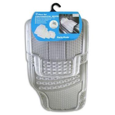AutoStark Premium Transparent White Car Floor/Foot Mats