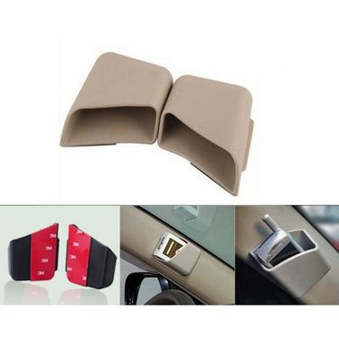 AutoStark Car Pillar Storage Pockets Set Of 2 - Beige