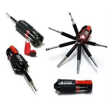 AutoStark 8 in 1 Multi-function Screwdriver Kit, Tool Kit Set + 6 LED light Torch