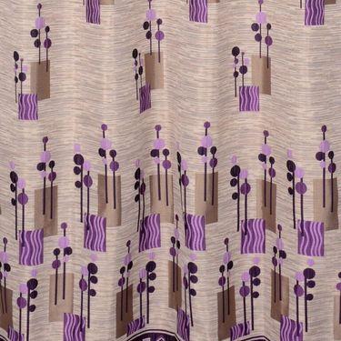 Set of 2 Printed Door curtain-7 feet-DBR_2_4014
