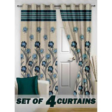 Set of 4 Printed Door curtain-7 feet-DBR_4_4026