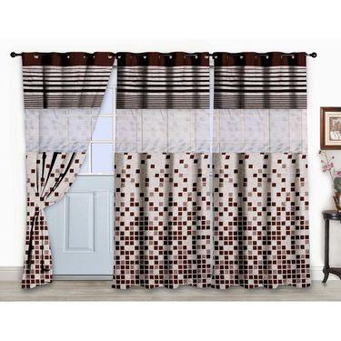 Storyathome Set of 3  Door curtain-7 feet-DCL_3-1003