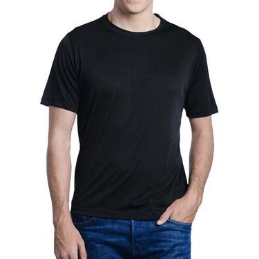 Oh Fish Plain Round Neck Tshirt_Df1blk - Black