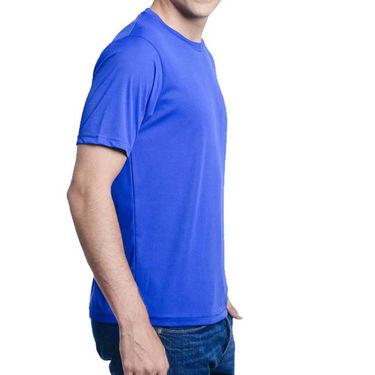Oh Fish Plain Round Neck Tshirt_Df1blu - Blue