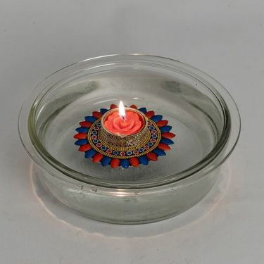 Multicolor Glossy Floating Candles