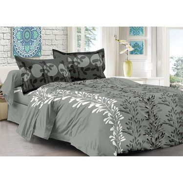 Valtellina 100% Cotton Double Bedsheet with 2 Pillow Cover-3001-A