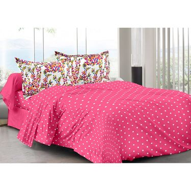 Valtellina 100% Cotton Double Bedsheet with 2 Pillow Cover-3007-f