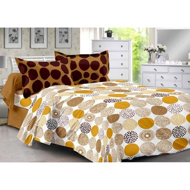 Valtellina 100% Cotton Double Bedsheet with 2 Pillow Cover-3008-E