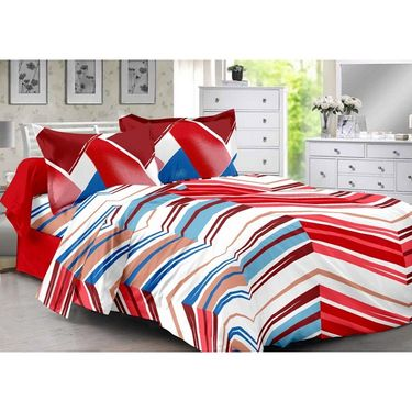 Valtellina 100% Cotton Double Bedsheet with 2 Pillow Cover-3016-B