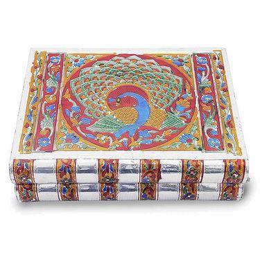 Little India Metal Colorful Meenakari Work Jewellery Box -174