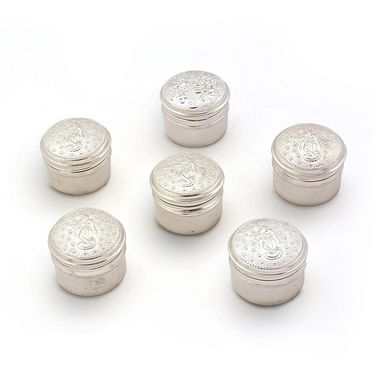 Little India Silver Polish Unique Laxmi Ganesh Six Box Set 242