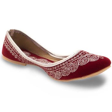 Branded Womens Bellies Maroon -MO351