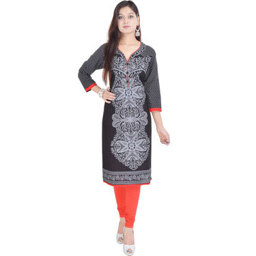 Combo of 4 Cotton Printed Kurti -DLI6KCO409