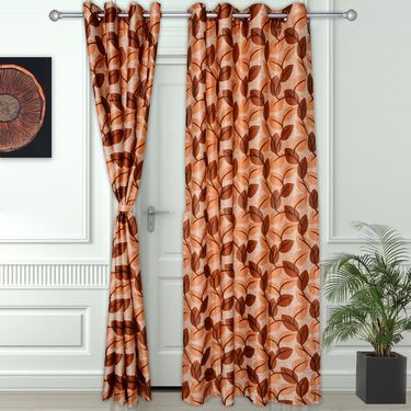 Story @ Home Maroon 2 pc Door curtain-7 feet-DNR3060