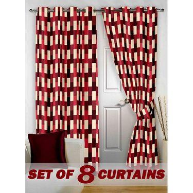 Set of 8 Printed Door curtain-7 feet-DNR_4_3050