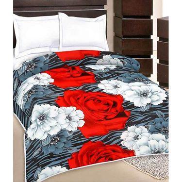 Set of 2 Flower Design Single Bed AC Dohars-BD-1