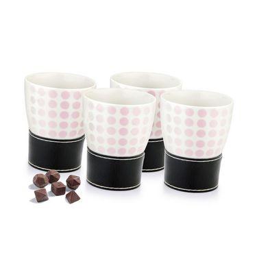 Mosaic Ceramic Mugs - Set Of 4 mms-4 pink