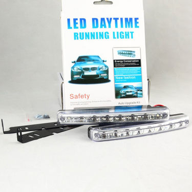 Day Time Running 8 LED Light for Car - White