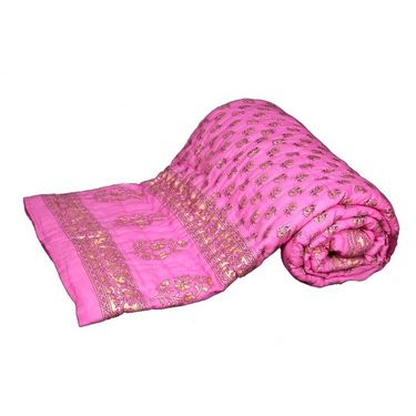 Set of 2 Banarsi Das Single Bed Cotton Jaipuri Quilts-band-4