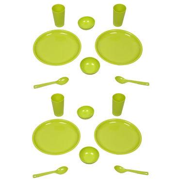 Kitchen Duniya Round Dinner Set 16 Pcs-Trendy Green