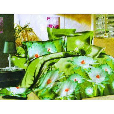 Set of 2 Floral 3D Printed Bedsheet with 4 Pillow Covers-DWCB-460_65