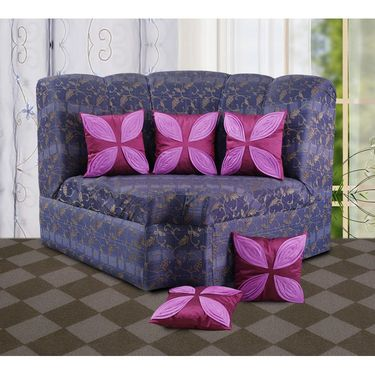 Dekor World Leaf Pattern Cushions Cover (Pack of 5)-DWCC-12-137-5