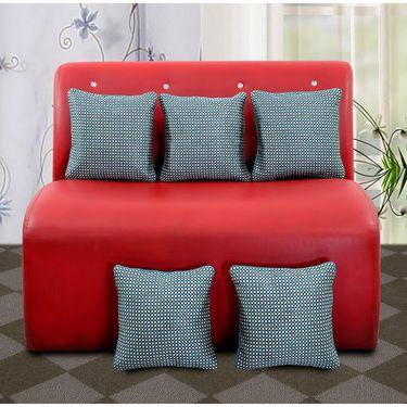 Dekor World Self Check Cushion Cover (Pack of 5)-DWCC-12-157-5