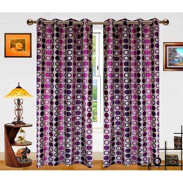 Dekor World Circle Bonanza Window Curtain- Set Of 2 -DWCT-459-5