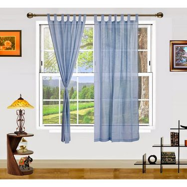 Dekor World Summer Fun Window Curtain- Set of 2 Pcs-DWCT-892-5
