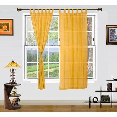 Dekor World Summer Fun Window Curtain- Set of 2 Pcs-DWCT-894-5
