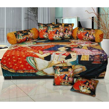 Set of 8 Dekor World Velvet Digital Printed Diwan Cover Set-DWDS-0135