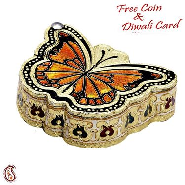 Butterfly Design Metal Multipurpose Box