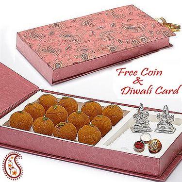 Aapno Rajasthan Gift Box with Motichoor Laddoos and Laxmi & Ganesh Idols