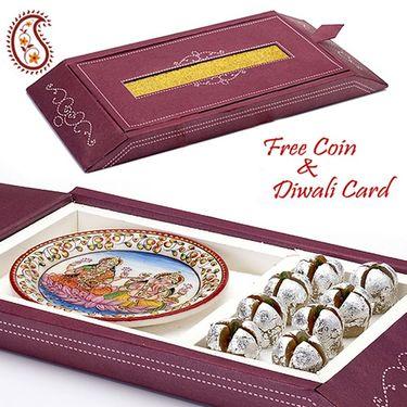 Aapno Rajasthan Gift Box with Kaju Anaar and Laxmi Ganesh Plate