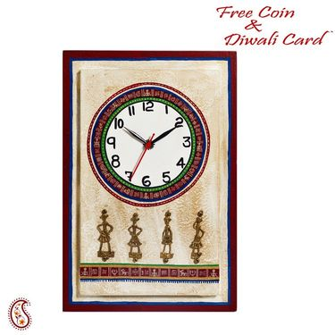 Artistic Wall Clock with Dhokra Work