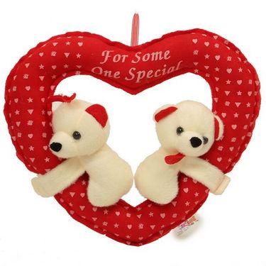 Valentine Stuff Toy Teddy Bear Couple Cute In Heart