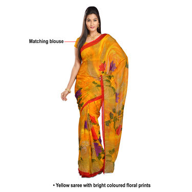 Deepika Collection of 3 Printed Georgette Sarees by Pakhi (7G25A)