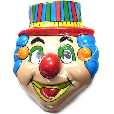 Clown Faced PVC Mask for Kids - 5pcs