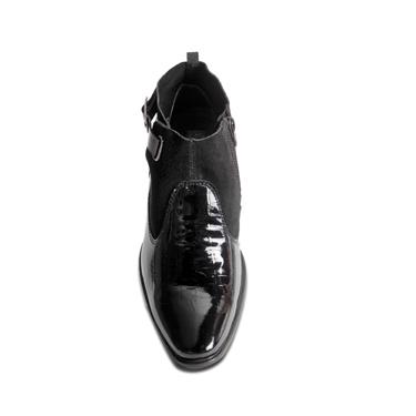 Delize Patent Leather Boots - Black